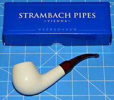 bent APPLE Handmade MEERSCHAUM pipe by STRAMBACH Austria (bauer) NEW 9mm Filter☦