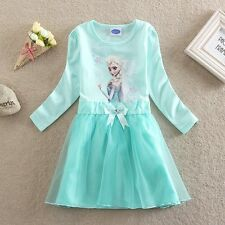 Frozen Kids Elsa Halloween Holiday Princess Dress Girls Clothes Size 6-7Y=116cm