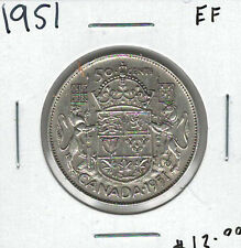 Canada 1951 Silver 50 Cents EF Lot#3