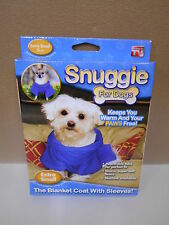 New Blue Snuggie For Dogs, Size Xtra Small Snuggie Blanket Coat