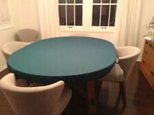 "Green Poker Felt Table cloth - fits 48"" round table - elastic edge bl - mto"