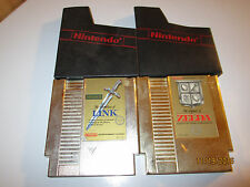 VERY GOOD 2 NES NINTENDO GAMES LEGEND OF ZELDA 1 AND LINK ZELDA II