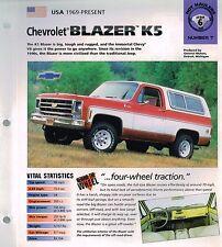 1969, 1970,.....CHEVROLET CHEVY BLAZER K5 / K-5 IMP Brochure