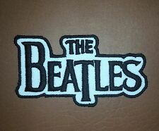 The Beatles Rockabilia Music band Black on White Iron-on Embroidered Patch/ Logo