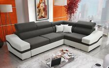 Santiago corner sofa bed, left or right hand corner, faux leather or fabric
