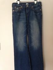 MENS AUTHENTIC TRUE RELIGION DISTRESSED JEANS EMBROIRDERED POCKET W33 L34