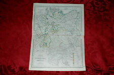 Mappa Carta Geografica Acquerellata Confederazione Germanica Civelli 1860