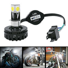 KIT Phare LED Xenon Blanc Ampoule H7 6000k MOTO H4 H6 BA20D LED