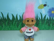 "I LOVE GRANDMA - 5"" Russ Troll Doll - NEW IN ORIGINAL WRAPPER W/FLAWS"