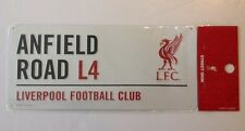 "Liverpool FC Metal 3D Sign 16""x7"" Anfield Road L4 New White"
