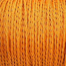Souci Gold Twisted Braided Fabric Cable 3-Core 0.5mm for lighting