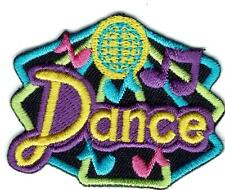 Girl DANCE Black Disco Class Party Fun Patches Crest Badges SCOUT GUIDE School