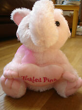 "ASDA TICKLED PINK ELEPHANT SOFT TOY APPROX 14"" NEW BNWT"