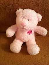 Mothercare Small Pink Bear With Flower Soft Toy Comforter Teddy