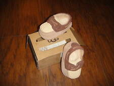 UGG I ZACH S 2/3 BROWN LEATHER LOAFER SHOES BABY INFANT