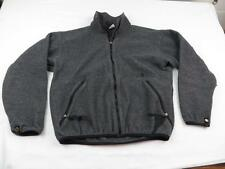 Used Broken Front Zipper Northface Mens Gray Fleece Fall Zip Jacket Coat Sz M