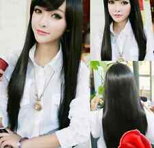 Korean New Fashion 80CM Long Straight Cosplay Party Women Girl''s Hair Full Wigs
