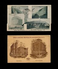 TWO NY Hotel Cards - Seneca/Rochester in Rochester & Clifton/Niagra in Niagra
