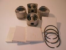 VW Water Cooled Pistons and Ring Set: +.010 Over Pistons for 1.6 &1.7 Gas