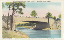 Canada USA 1000 ISLANDS Rift International Bridge Ontario Canada 1940s Postcard