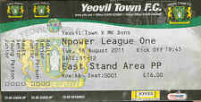 Football Ticket Stub - Yeovil Town v MK Dons - League One - 16/8/2011