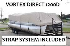 NEW VORTEX SUPER HEAVY DUTY BEIGE 1200D 18 FT ULTRA 4 PONTOON/DECK BOAT COVER
