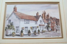 PRESTBURY VILLAGE  by MARTIN GOODE  NUMBERED PRINT 15 X 13 inches