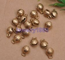 20pcs Copper Jingle Christmas Bells Loose Beads Charms Jewelry Making 7x9x12mm