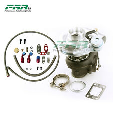 T3 T4 T3T4 TO4E V-band 420hp Turbocharger 0.63 AR with Oil inlet outlet Line Kit
