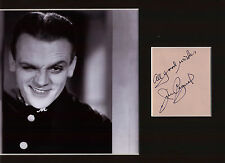 JAMES CAGNEY HOLLYWOOD GREAT SMASHING VINTAGE  SIGNED AUTOGRAPH DISPLAY UACC