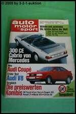 AMS Auto Motor Sport 22/88 * Mercedes 300 CE Audi V8 Coupe Jaguar XJ 220