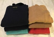 Ralph Lauren RRL Double Polo Jcrew J. Crew JOE Lot Of 6 Wool Sweaters S / Slim M
