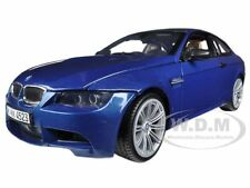 BMW M3 E92 COUPE BLUE 1:18 DIECAST MODEL CAR BY MOTORMAX 73182