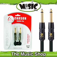 Carson Pro Series 3ft Patch Cable - 1m Quality Guitar Lead - The Music Shop