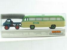 "Brekina 39110 MB Unimog 411 + Omnibus ""Schwarz"" OVP (R7917)"