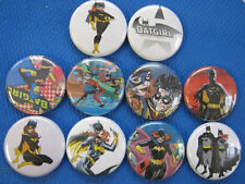 BATGIRL BAT GIRL 10 Nice NEW PINS Pinbacks Buttons ZC