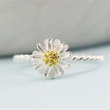 Unique Chrysanthemum Finger Ring for Girls Women Cute Daisy Flower Rings