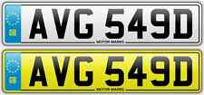 CHEAP NUMBER PLATE -AVG 549D -AVG AV AG CHEAP COBRA SCOOTER YAMAHA ROYAL ENFIELD
