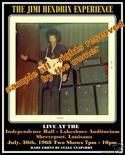 JIMI HENDRIX 1968 TOUR RARE FANS SNAPSHOT AMAZING 8 X 10 NUMBERED PIECE w C.O.A.