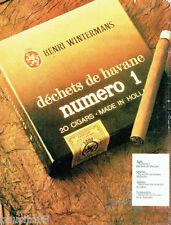 PUBLICITE ADVERTISING 036 1978  déchets Havane Henri Wintermans  cigares  N°1
