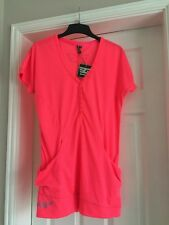 New Size 10 Pink Goldigga Long Top Cost £29.99 Silver Sparkle Detail