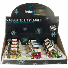 14.5cm Christmas Light Up Classic Village Market Stall Indoor Lights Decoration