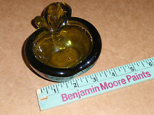 VINTAGE SMALL GREEN GLASS ASHTRAY MADE IN ITALY MURANO?? 5""
