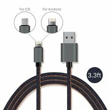 New Micro USB  Adapter Charging Cable Charger for Samsung Android iPhone