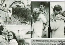 Coupure de Presse Clipping 1977 (2 pages) Ursula Andress et Ryan O'Neal