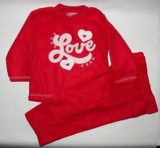 Teddy Boom 12 Month Red 2 Piece Play Set Shirt Pant Love Hearts Long Sleeve New