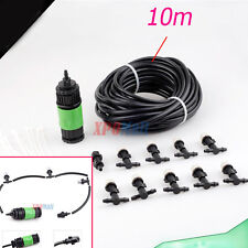 Outdoor Garden Greenhouse Water Misting Cooling System with Mist Nozzle 10m/33'