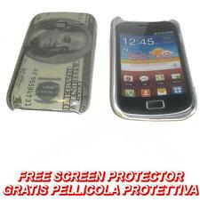Pellicola+custodia BACK COVER US DOLLAR per Samsung Galaxy Y Duos S6102