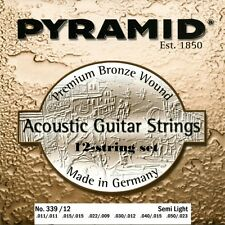 Pyramid 12-Cordes Acoustique Premium Bronze Guitare cordes Lot Strings