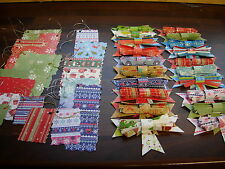 Joblot of 40 xmas christmas mixed handmade paper/card bows and gift tags NEW